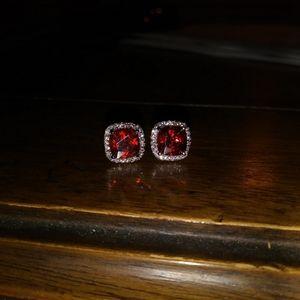 Jewelry - NEW! Ruby & Diamond Earrings